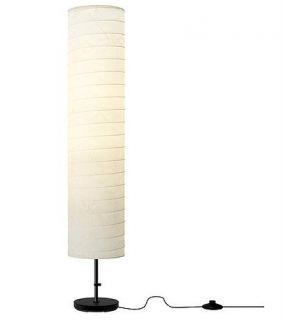 IKEA Floor Lamp Soft Mood Light Holmo Rice Paper Shade Holmö