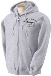 Holstein Dairy Cow Custom Embroidered Sweatshirt TS