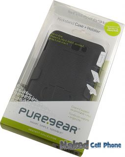 PUREGEAR BLACK CASE + BELT CLIP HOLSTER STAND FOR SAMSUNG GALAXY NOTE