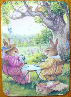 Susan Wheeler Holly Pond Hill Bunny Rabbit Tea Cup Picnic Birthday