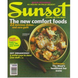 Sunset: Living in the West Magazine January 2009   New Comfort Foods