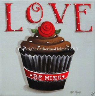 Love Valentine Cupcake Print by Catherine Holman