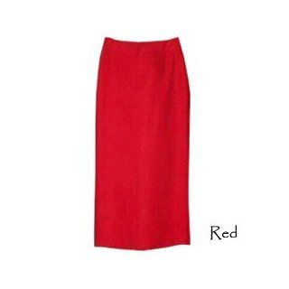 Womens Linen Long Full Length Skirt, 2, Red Clothing