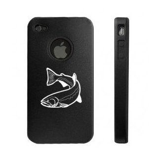 Apple iPhone 4 4S 4G Black D2089 Aluminum & Silicone Case