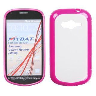 MYBAT Transparent Clear/Solid Hot Pink Gummy Cover for