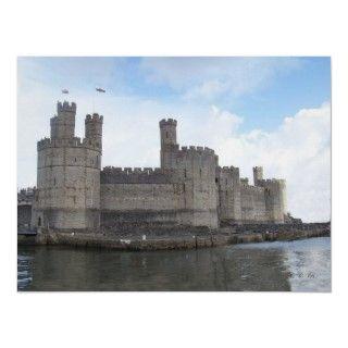 Caernarfon castle. Built in the thirteenth century by King Edward 1.