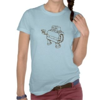 Robot with a Ray Gun T shirt