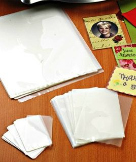 100 Laminating Machine Pouches Sheets Assorted Letter Photo Name Card