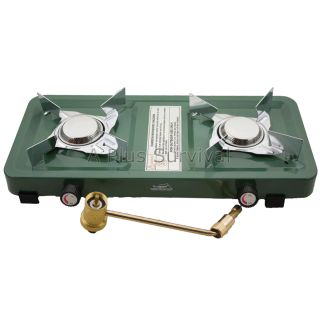 Texsport Dual Burner Propane Stove for Camping