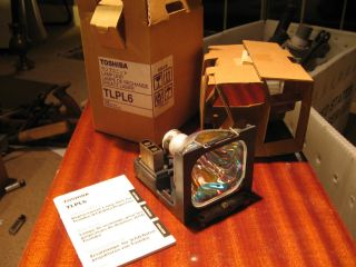 REAL TOSHIBA TLPL6 PROJECTOR LAMP HOUSING 120W NEW in box HOME THEATER