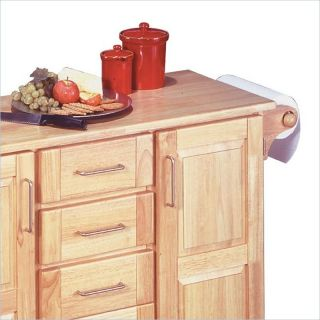 Kitchen island counter breakfast bar with two natural for Home styles natural kitchen cart with storage