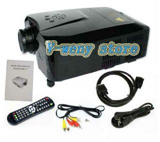 HD Home Theater LCD LED Projector HDMI DVD VGA 2 USB 3 HDMI Without TV