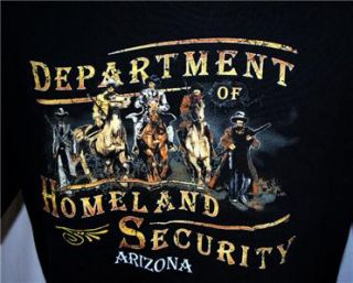 Department of Homeland Security Arizona T Shirt Sz 2XL Cowboys and