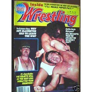 Inside Wrestling Magazine May 1985 Issue London Publishing