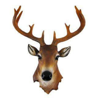 10 Pointer Buck Deer Head Bust Wall Hanging Home