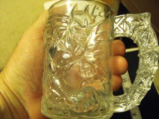 McDonalds Batman Forever Batman Glass Mug 1995
