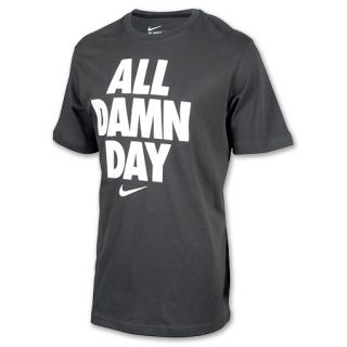 Mens Nike All Day Tee Shirt Grey/White