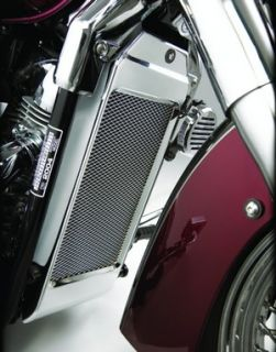 brand new show chrome radiator grille mesh honda shadow 750