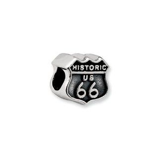 Route 66 Charm in Sterling Silver for Reflections, Expression, Kera