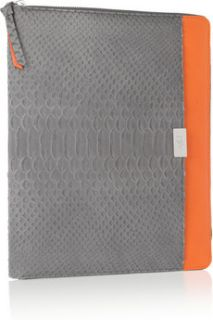 Diane von Furstenberg Faux python and leather iPad case