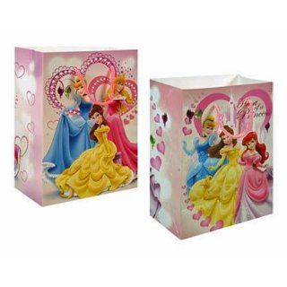 12 Pack Disney Princess Pink Medium Party Gift Bags Toys