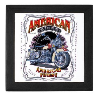 Keepsake Box Black American Biker Americas Finest Born in