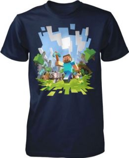 Official Licensed Minecraft Adventure with Steve Youth T