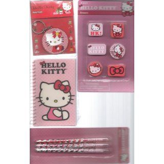Hello Kitty Pen & Art Set 4 Pack (Pens, Journal, Erasers
