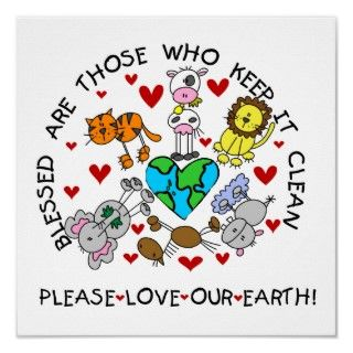 Animals Love the Earth T shirts and GIfts Poster