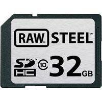 Hoodman Raw Steel 32GB SDHC Class 10 SD Memory Card RAWSDHC32GBST