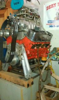 Blown Supercharged BBC Flat Bottom Drag Race Engine