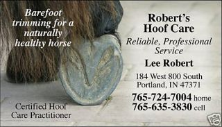 Horse Hoof Trimming Farrier 500 Custom Business Cards