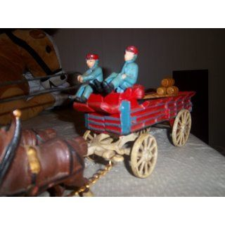 Cast Iron Budweiser 8 Clydesdale Horse Wagon Everything