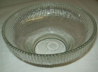 Hoosier Glass Clear Bowl Ribbed Sides 4054