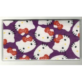 Checkbook Cover Sanrio Hello Kitty Faces on Purple