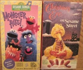 Huge Lot 18 VHS Videos Sesame Street Elmos World Big Bird Christmas