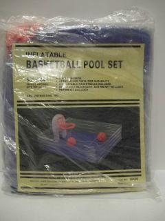 Childrens Swimming Pool with Basketball Backboard Rim Hoop Net