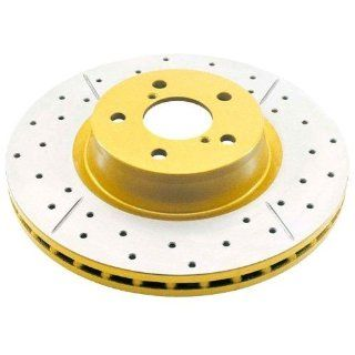 DBA DBA419X Street Series Gold Cross Drilled and Slotted Rear Vented
