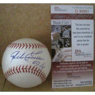 Signed Mike Cuellar Baseball   69 Cy Official M l W jsa