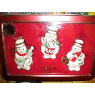 Lenox Christmas Ornaments, Three Snowman Tin Box Set Home