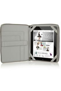 Diane von Furstenberg Printed textured faux leather iPad case