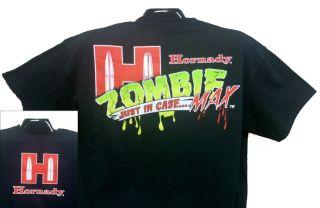 XXL Hornady Zombie Z Max Ammunition Promo Shirt Gun Ammo Apocalypse
