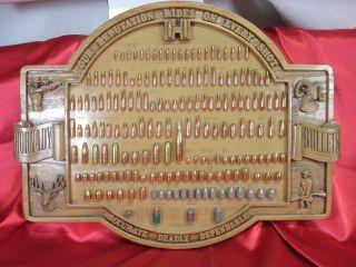 ORIGINAL HORNADY BULLETS DISPLAY SIGN board ~ FULL SET – 176 BULLETS