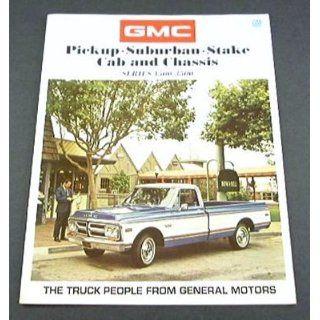 1971 71 GMC PICKUP Truck BROCHURE 1500 2500 Suburban