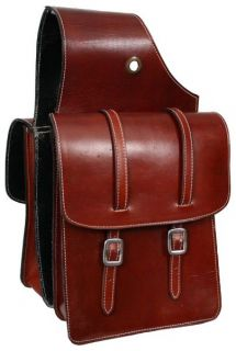 Sided Showman Leather Saddle Bag New Horse Grooming Tack