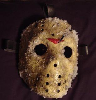 13th x Iced Custom Hockey Mask Halloween Horror Prop Evil Hell