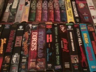 VHS Horror Lot 29 Movies Evil Dead Stephen King Classic Monsters More