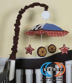 Musical Mobile for Horse Cowboy Baby Boy Bedding Set