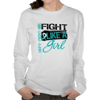 Cervical Cancer   Fight Like a Girl Shirts
