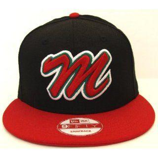 Mexico New Era Logo Retro Snapback Cap Hat Black Red